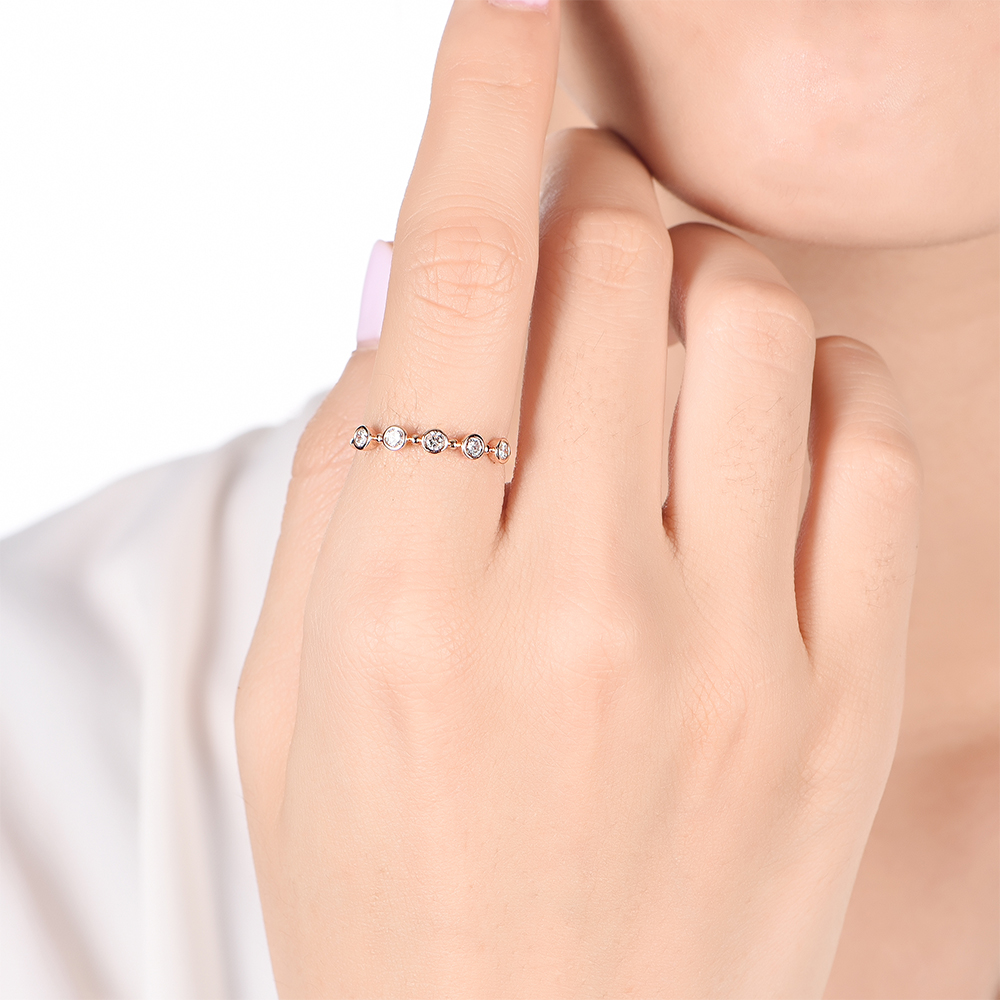 5stone Drop set Ring