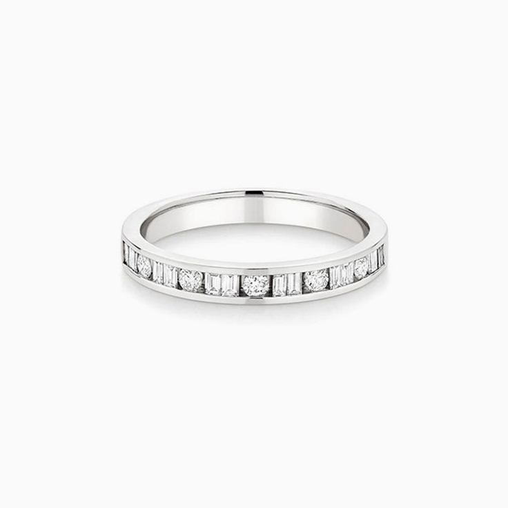 Baguette and Round Channel set Ring