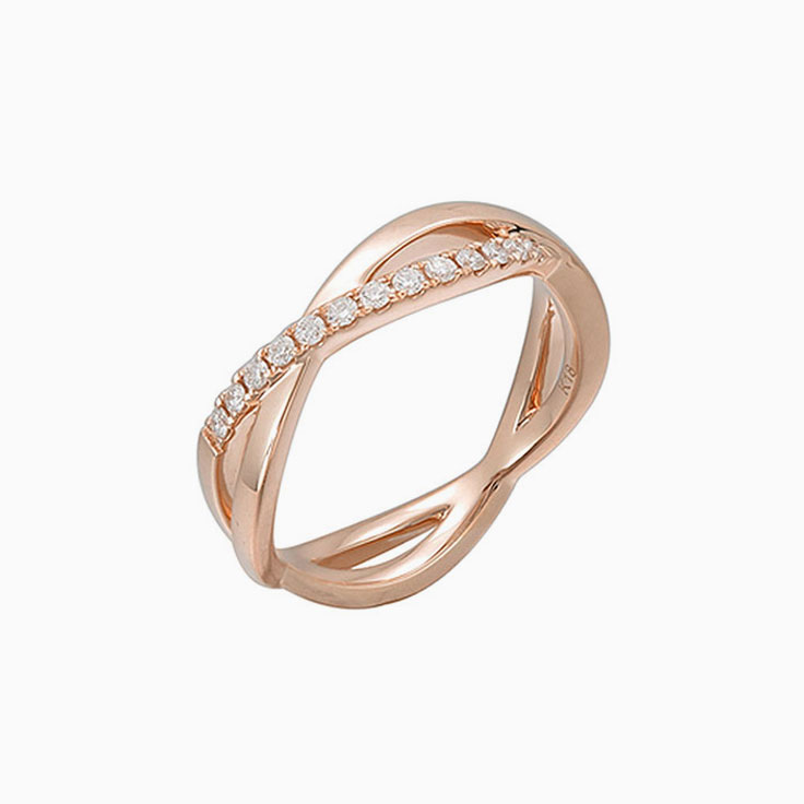 Crossover Ladies diamond ring 3145
