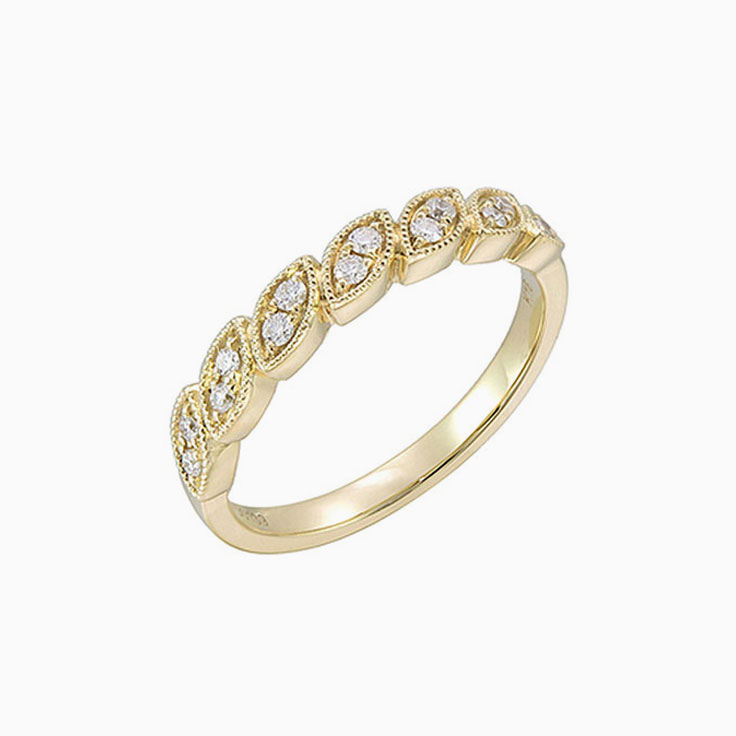 Marquise pattern wedding ring3249