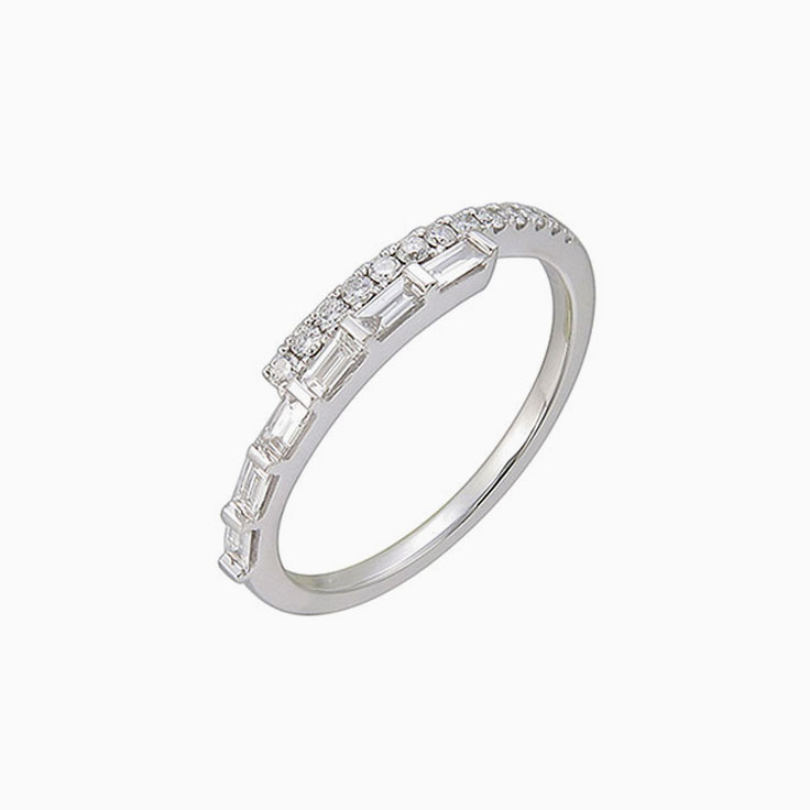 Baguette and Diamond Band 3077