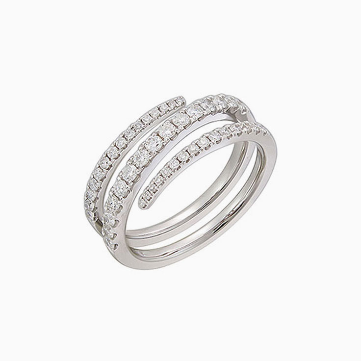 Wrap around diamond band 3118