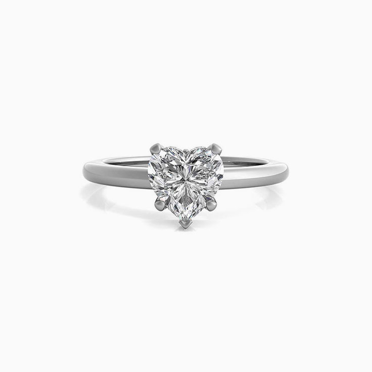 Heart Shape diamond solitaire engagement ring