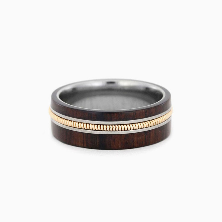 Bolivian wood mens ring