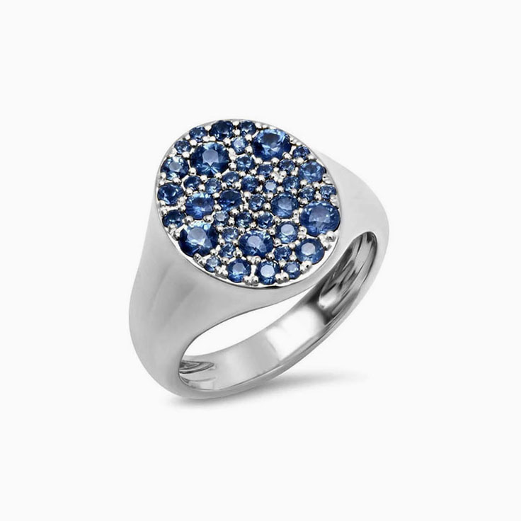 Signet Blue Sapphire ring