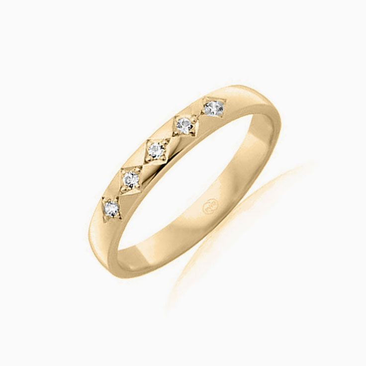 5stone diamond wedding ring B2021