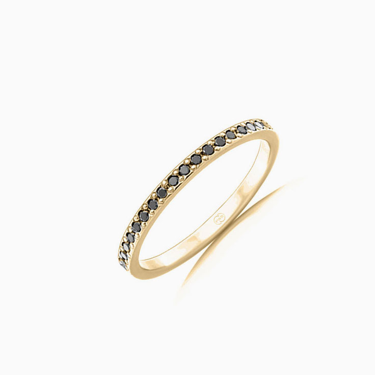 Black Diamond Pave set ring F4243