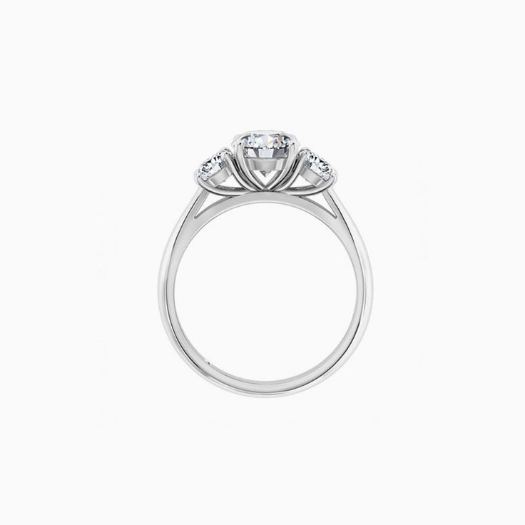Round Brilliant Cut In a trilogy setting  Enagagement Ring