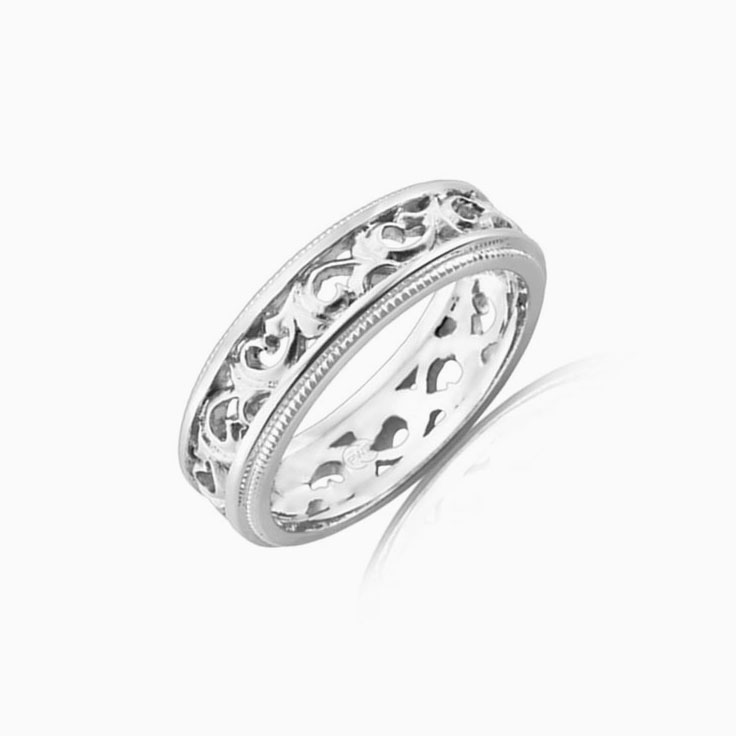 Patterned gold ring J3101